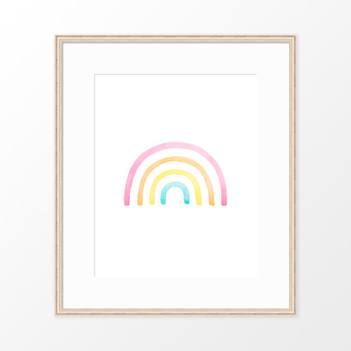 'Rainbow' Art Print / Kids' poster from The Printed Home