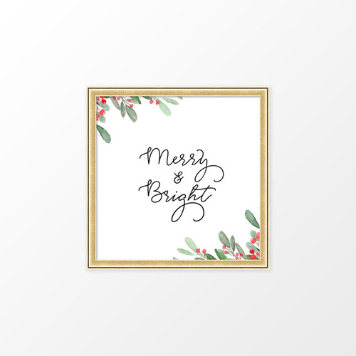 'Merry & Bright' Christmas Digital/Printable Art Print from The Printed Home