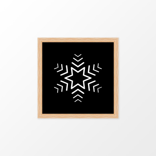'Snowflake' Christmas Digital/Printable Art Print from The Printed Home