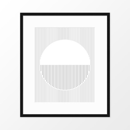 'Moon' Abstract Line Art Print from The Printed Home (Printable)