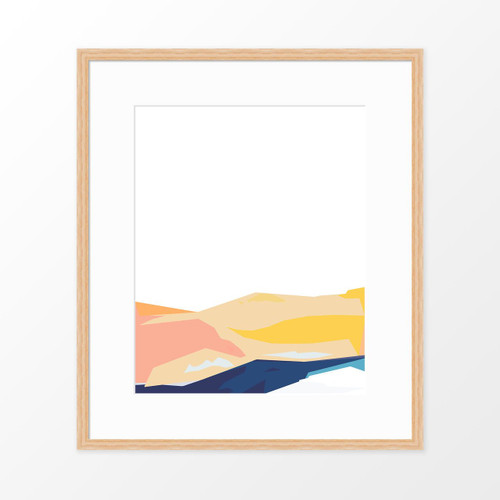 'Coastline I' Abstract Art Print from The Printed Home (Printable)