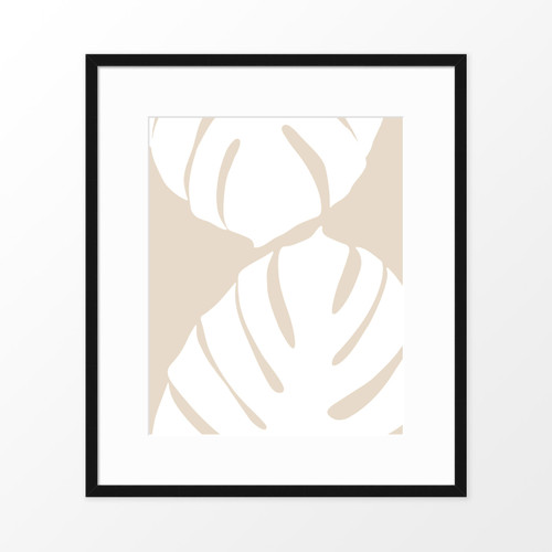 'White Monstera I' Botanical Art Poster from The Printed Home (Printable)