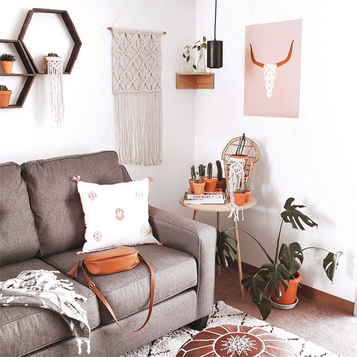 'Longhorn Skull' Art Poster in Rose from The Printed Home (Printable). Photo credit: Maddie @mylittlebohome via Instagram