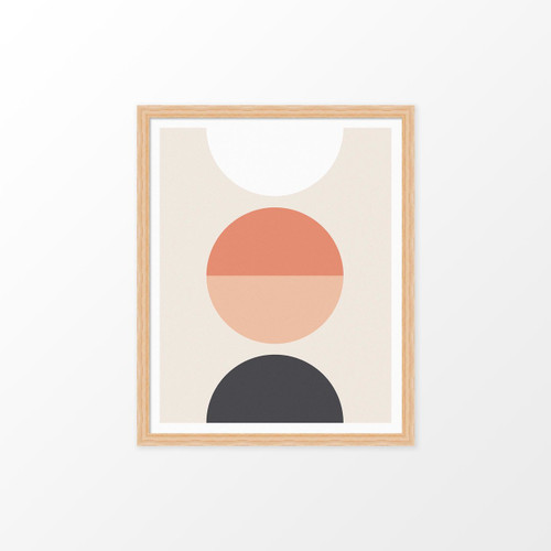 'Luna' Geometric Digital Art Print from The Printed Home