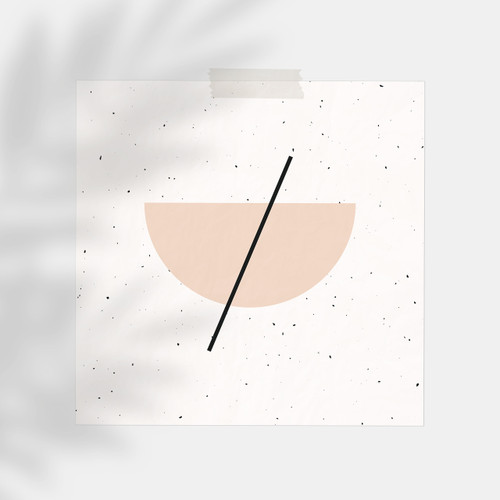 'Half Circle' Minimalist Geometric Art Print from The Printed Home