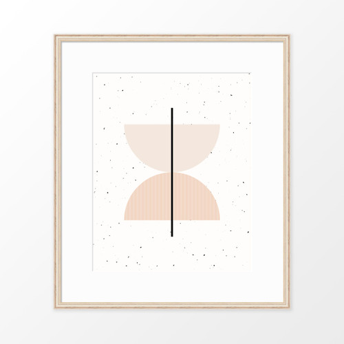 'Half Circles II' Minimalist Geometric Art Print from The Printed Home