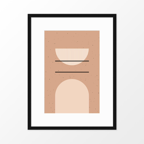 'Speckled II' Minimalist Geometric Art Print from The Printed Home