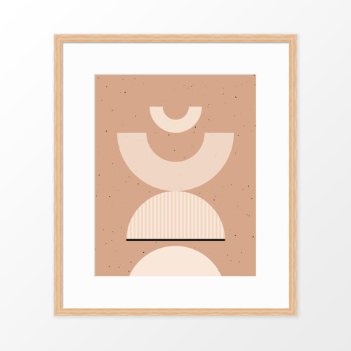 'Shapes + Flecks II' Minimalist Geometric Art Print from The Printed Home