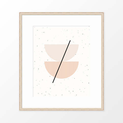 'Half Circles I' Minimalist Geometric Art Print from The Printed Home (Printable)