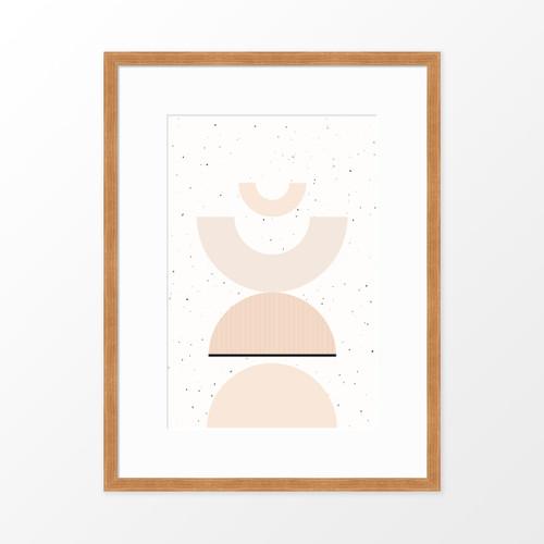 'Shapes + Flecks II' Minimalist Geometric Art Print from The Printed Home (Printable)