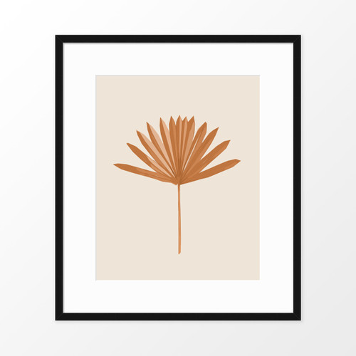 'Sun Palm I' in Sienna Abstract Leaf Art Print from The Printed Home