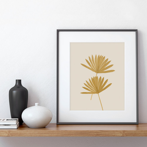 'Sun Palm III' Abstract Leaf Art Print in Ochre from The Printed Home (Printable)