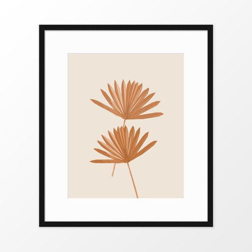 'Sun Palm II' Abstract Leaf Art Print in Sienna from The Printed Home (Printable)