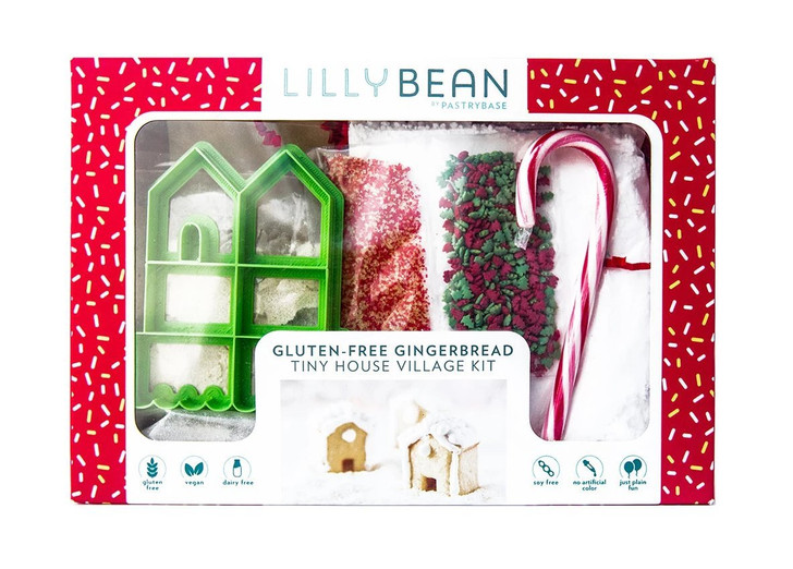 LillyBean by PastryBase Gluten-Free Holiday Gingerbread House Baking Kit