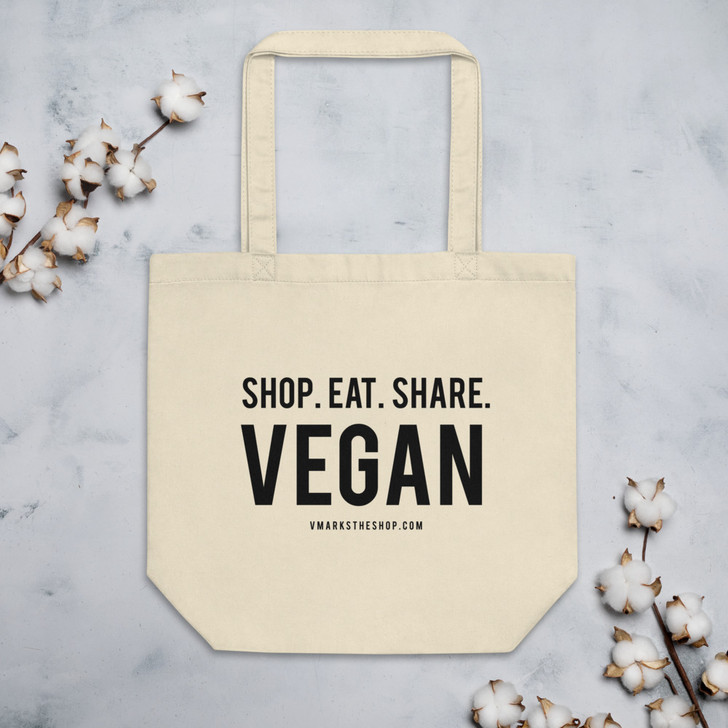 Shop. Eat. Share. Vegan Tote Bag!