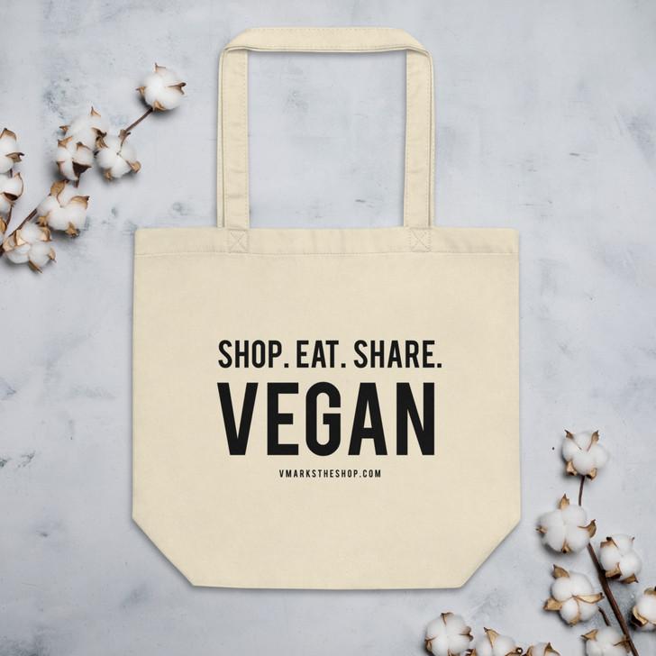 Shop. Eat. Share. Vegan Tote Bag!