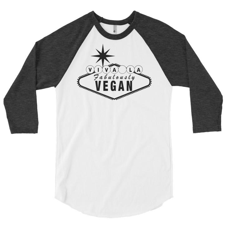 Viva La Vegan Raglan 3/4 Sleeve T-Shirt