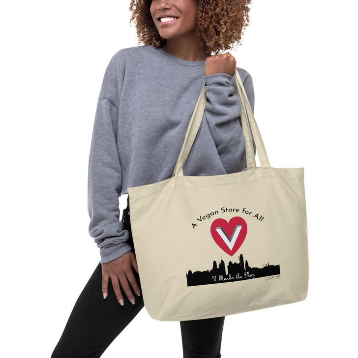 Vegan Store for All Large organic tote bag