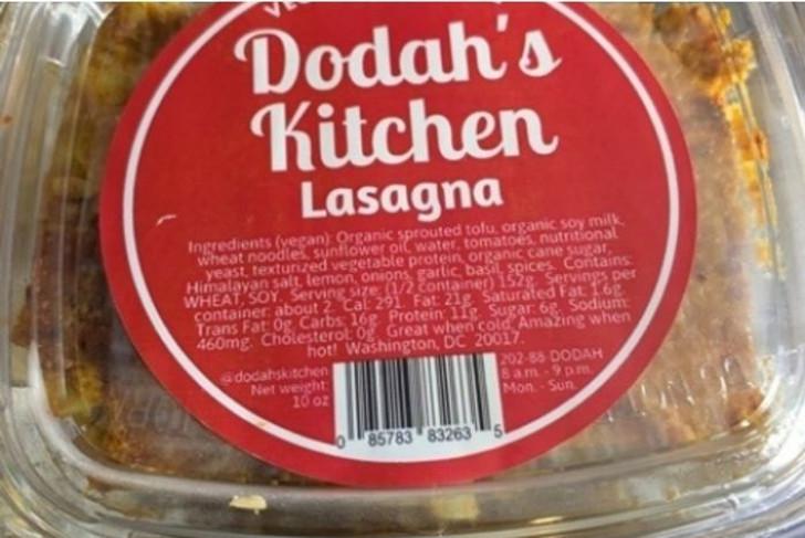 Dodah's Kitchen Vegan Lasagna
