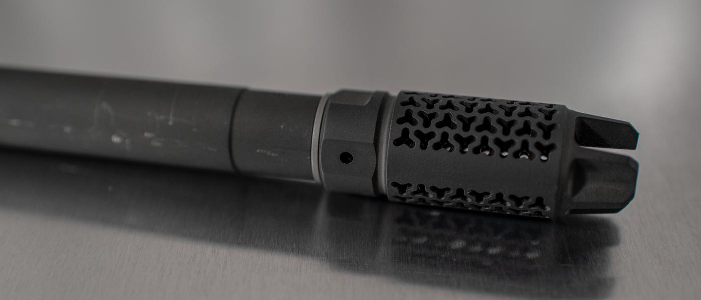 EFAB flash hider muzzle brake with Accu-Washer Shim