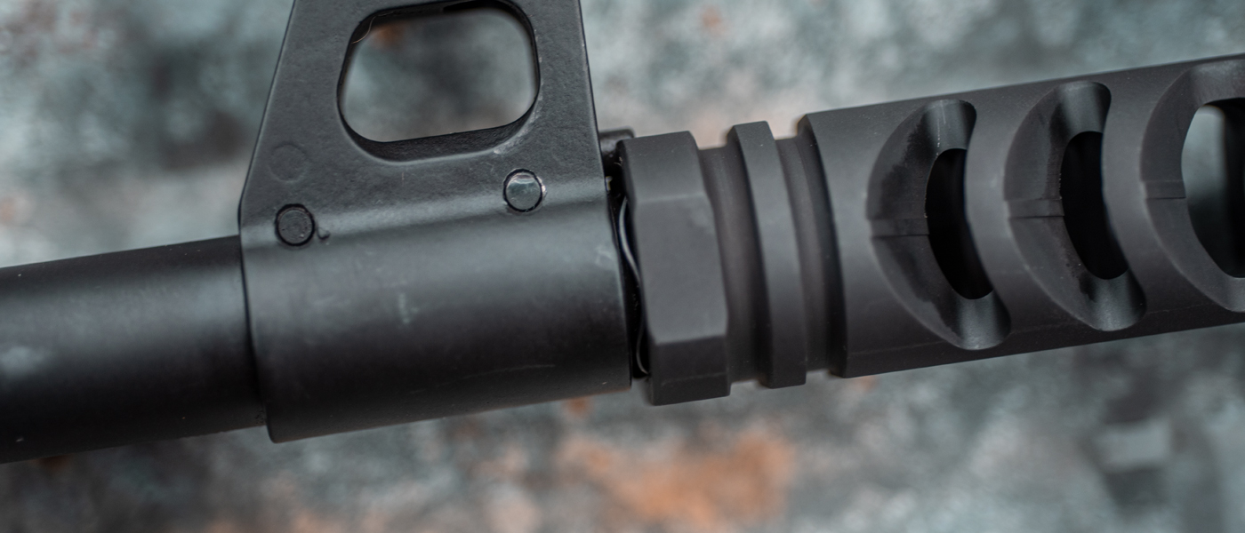 M4-72 muzzle brake compensator on AK-47 with crush spring