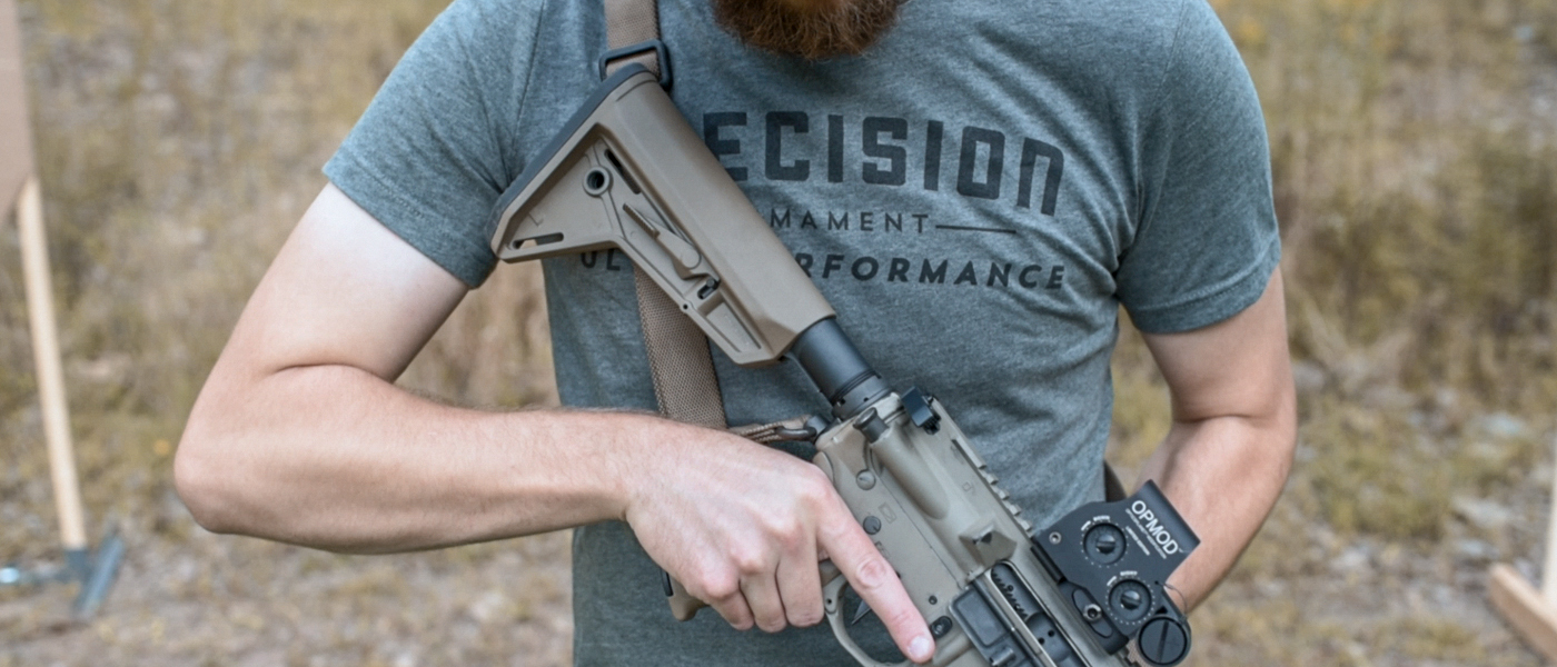 Ultra performance t-shirt with AR-15