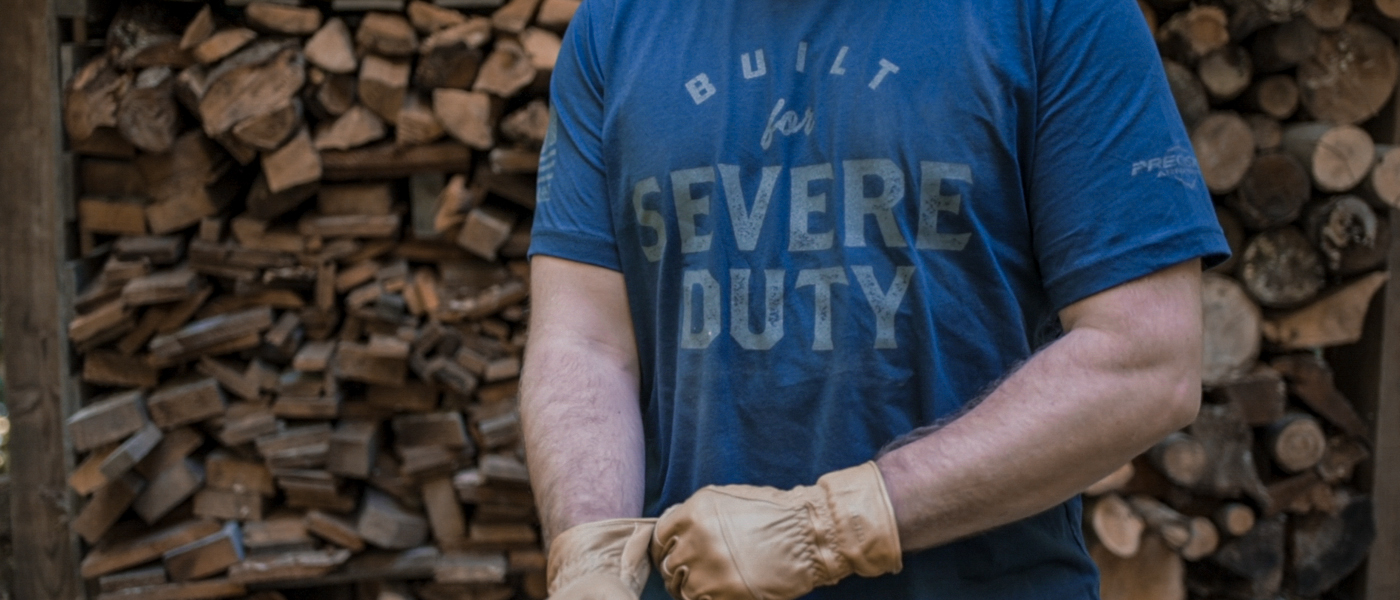 Severe Duty t-shirt with Magpul gloves