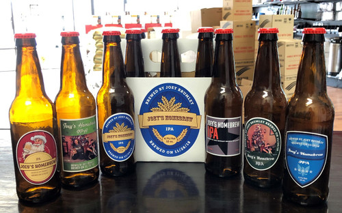 Custom Bottle and Case Labels for Beer or Wine