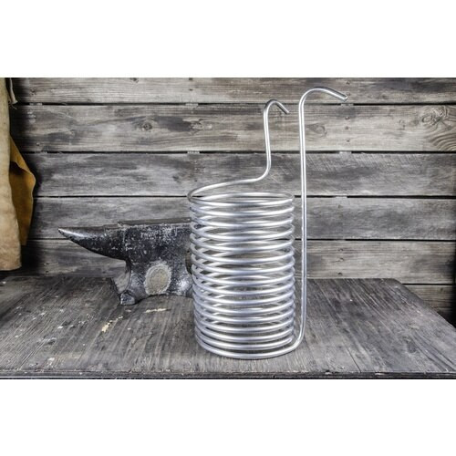 Anvil Stainless Steel Immersion Wort Chiller - 28 ft. x 3/8 in.