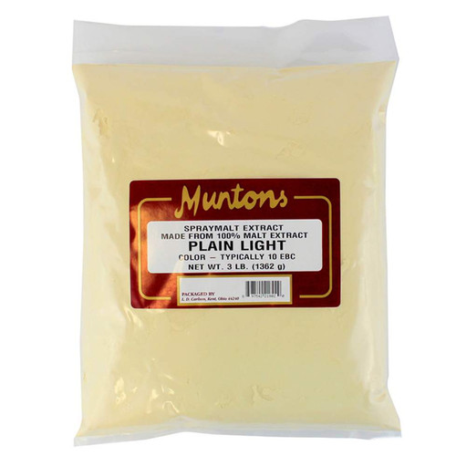 Muntons 3 Lb Plain Light Spray Dried Malt Extract