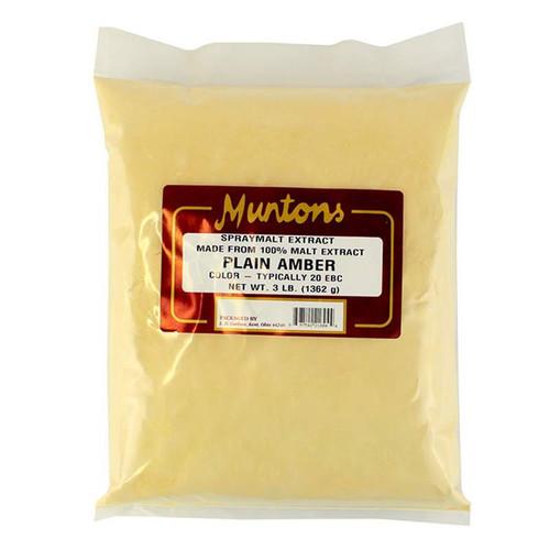 Muntons 3 Lb Plain Amber Spray Dried Malt Extract