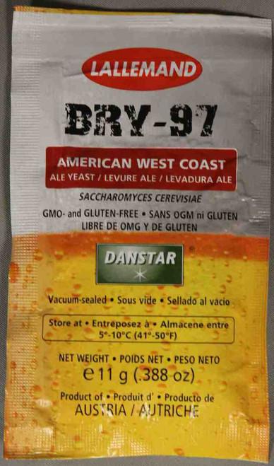 Lallemand Bry-97 West Coast Ale Brewing Yeast 11 Gram