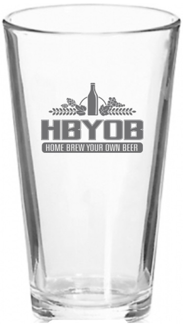 HBYOB 16 oz. Pint Glass