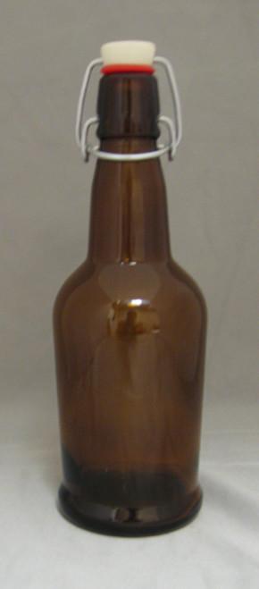 16 Oz Amber E.Z. Cap Bottles 12/Case