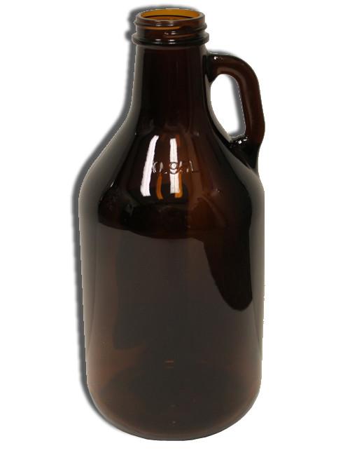 Amber 1/4 Gallon Glass Growler Jug 32 Oz