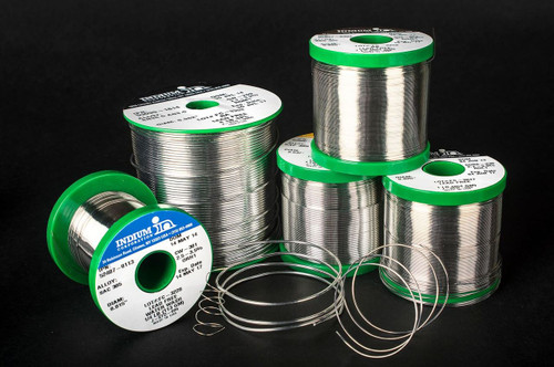 "INDIUM WIRE SOLDER 63/37 CW-301 .032"" DIA WATER SOLUBLE, 1LB SPOOL"