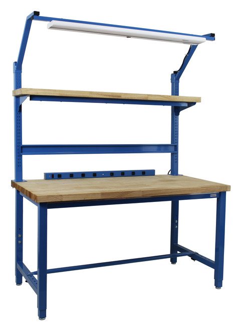"""Kennedy Series Complete Set with Formica Laminate Top, 6,000 lb Capacity 30"""" Depth x 60"""" Length, 30""""-36? Adjustable Height"""