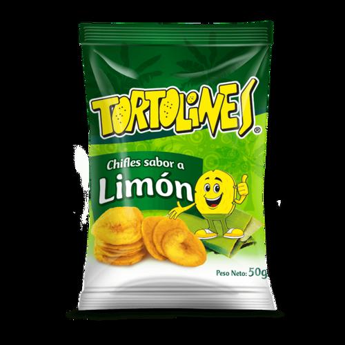 Tortolines Lemon Plantain Chips50gr
