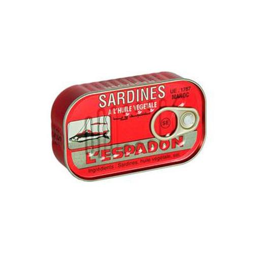 Espadon sardines 125gr