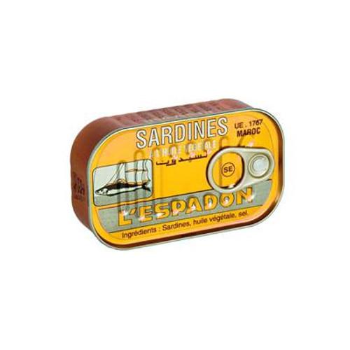 l'Espadon sardines chilli 125gr