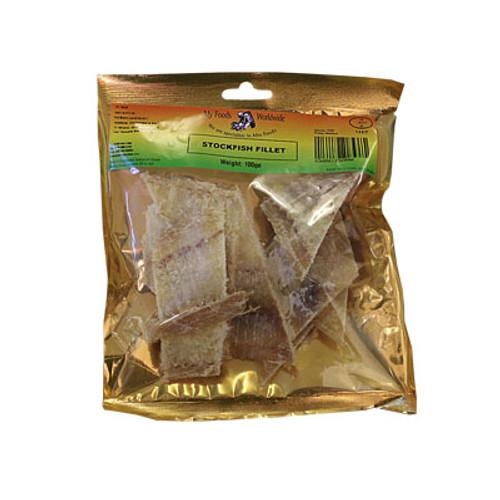 Stockfish fillets Bacalao seco cortado 100g
