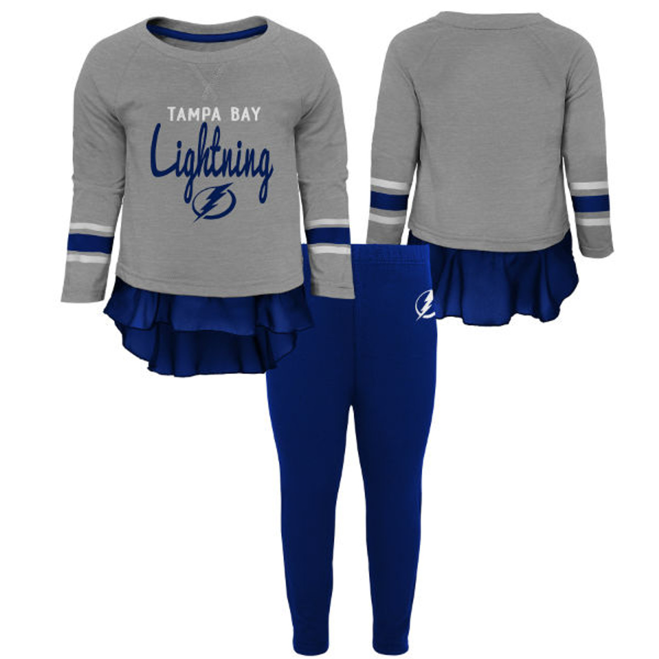 bc11337a00 Child's (4-6X) Tampa Bay Lightning Showoff Legging Set - Tampa Bay Sports