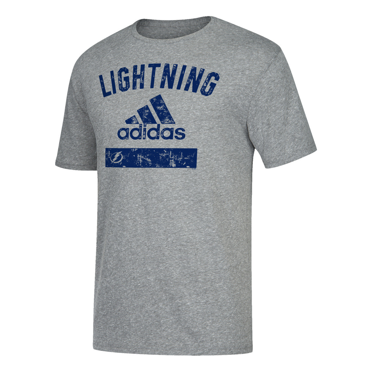 c85878f69 Men's Tampa Bay Lightning adidas Tri-Blend Faded Tee - Tampa Bay Sports