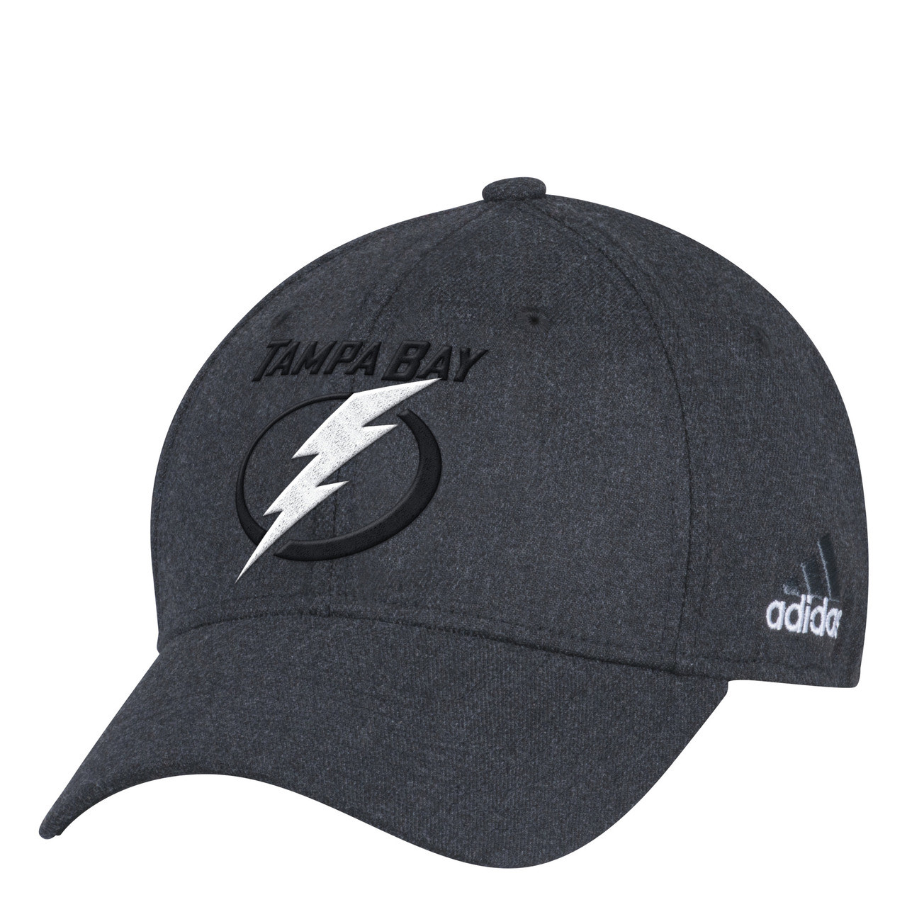 new arrival 0400f 089ed Tampa Bay Lightning adidas Flex Black Hat - Tampa Bay Sports