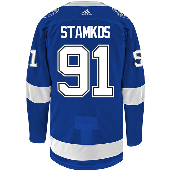 b7ea4cf5 #91 STEVEN STAMKOS adidas ADIZERO Lightning Jersey with Authentic Lettering