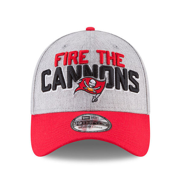 57cf67ba Men's Tampa Bay Buccaneers New Era Fire The Cannons On-Stage 39THIRTY Flex  Hat