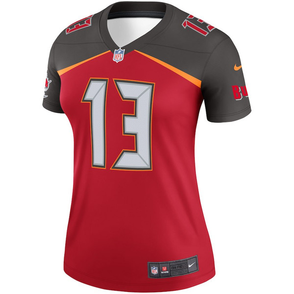 finest selection 885db 74397 #13 Mike Evans Nike Tampa Bay Buccaneers Women's Jersey