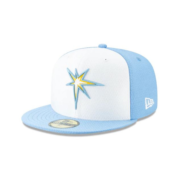 49bba5c9 Men's Tampa Bay Rays New Era 59FIFTY 2019 BP White Fitted Hat