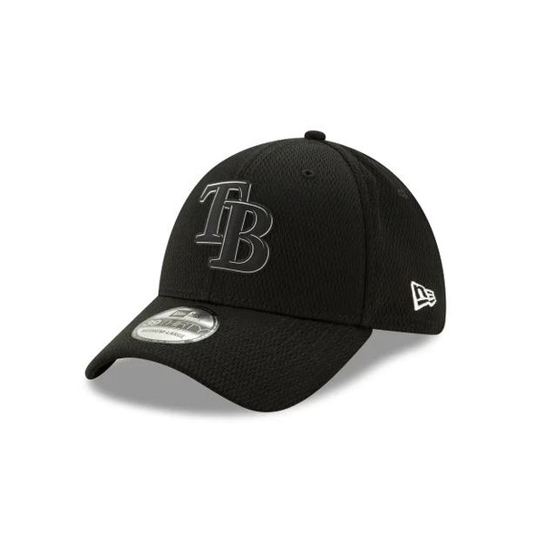 3c5ed4190 Men's Tampa Bay Rays New Era 39THIRTY Clubhouse Black Flex Fit Hat