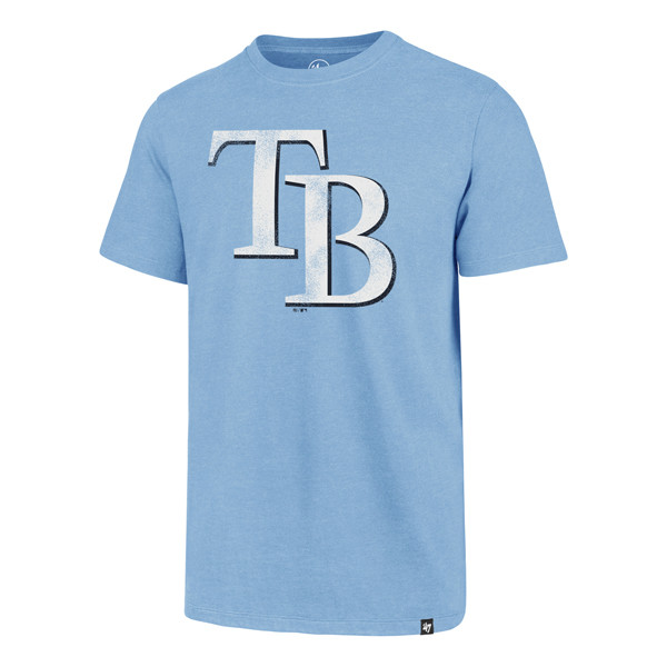 48843944 Men's Tampa Bay Rays '47 Carolina TB Logo Club Tee